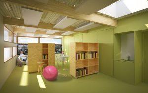 Vue intérieure projet de l'IME La Roseraie à Carrières-sur-Seine