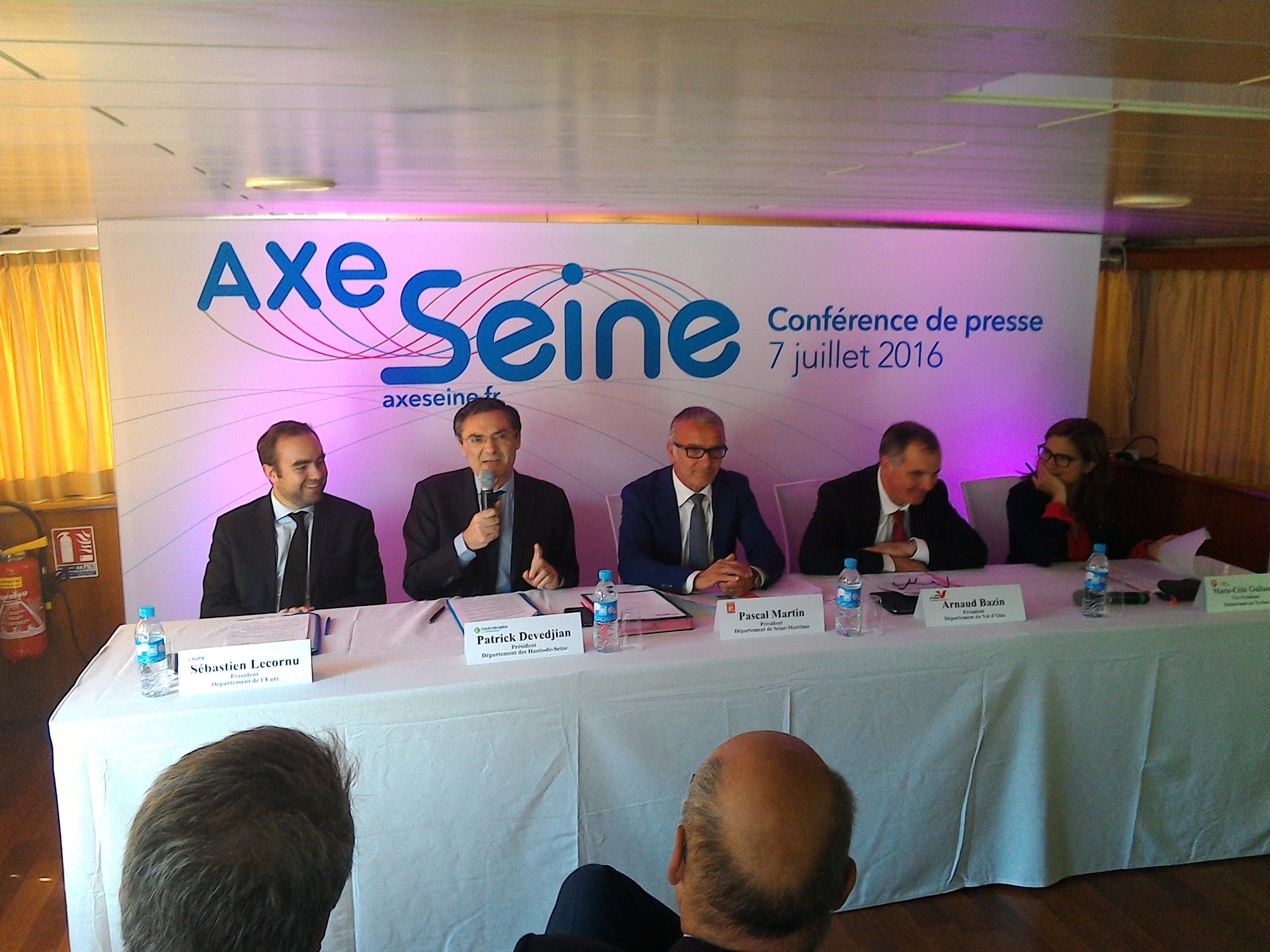 Lancement de l'association des départements de l'Axe Seine