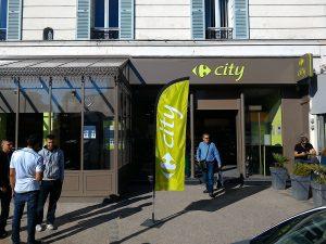 Devanture du Carrefour City de Villennes sur Seine