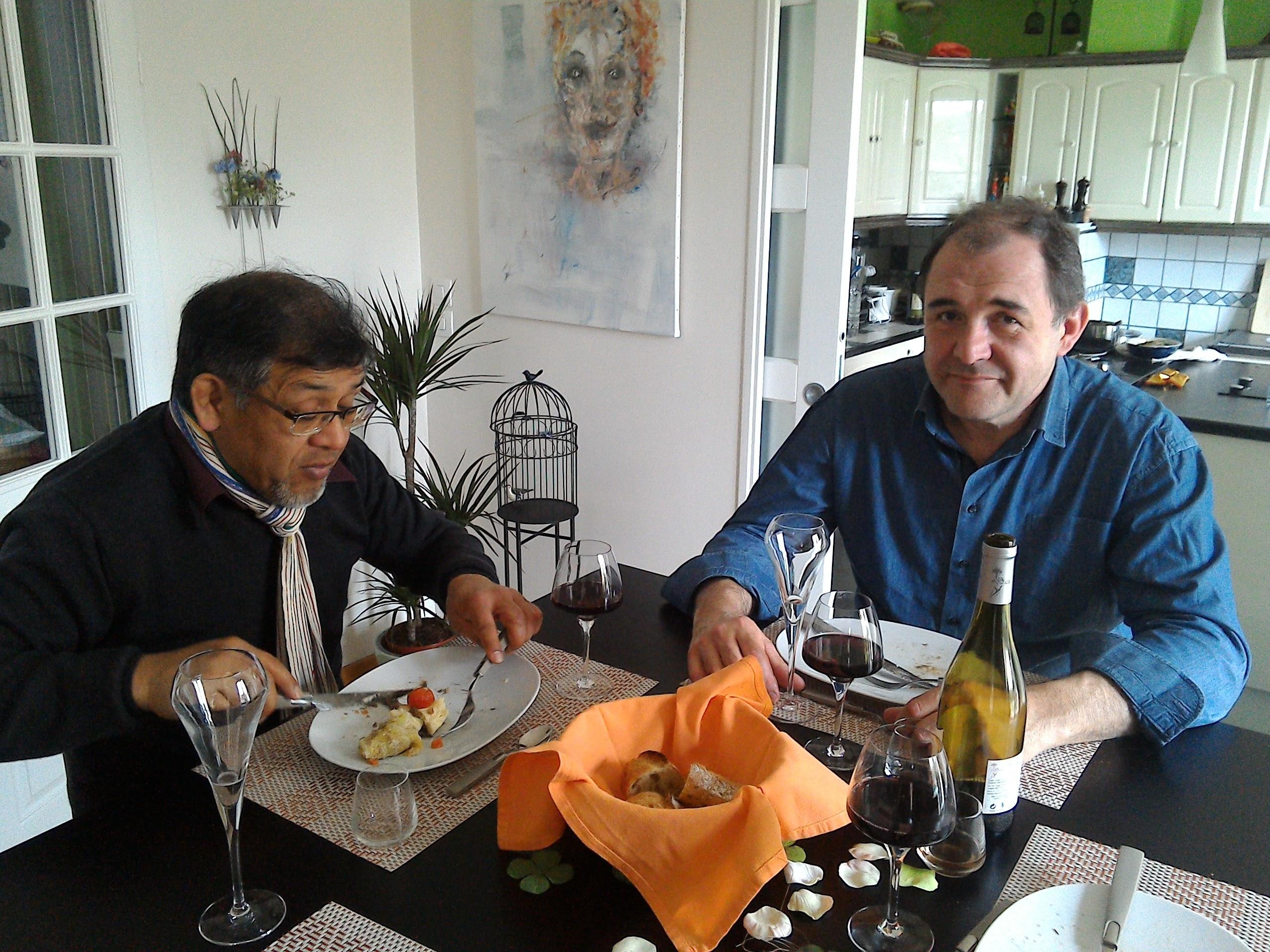 On est allé déjeuner chez François…